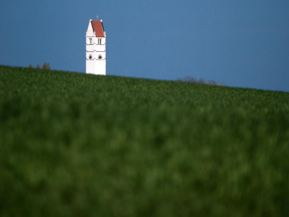 Kirchturm St. Johannes der Täufer, Röhrmoos im Dachauer Land