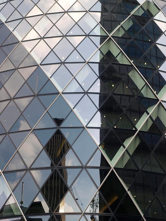 """The Gerkhin"", Swiss Re, London. Ken Shuttleworth und Sir Norman Foster"